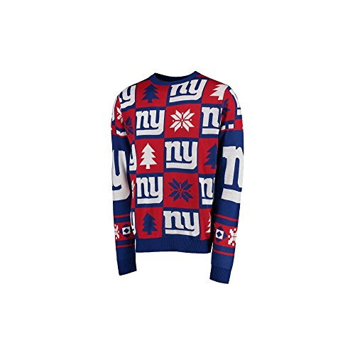 Forever Collectibles NFL New York Giants Patches Ugly Sweater XX Large -
