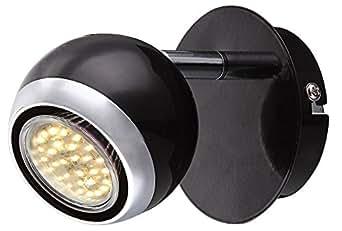 LED 3 watt rétro lampe spots appliques chromées boule métallique mobile Globo 57884-1 OMAN