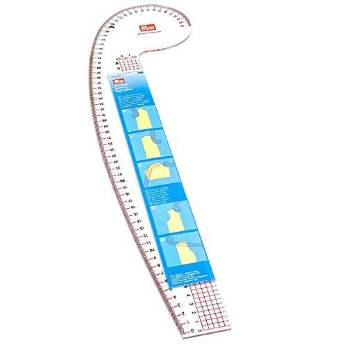 PRYM 611501 Kurvenlineal für Armloch, Armkugel, Schulter und Hals, 1 Stück