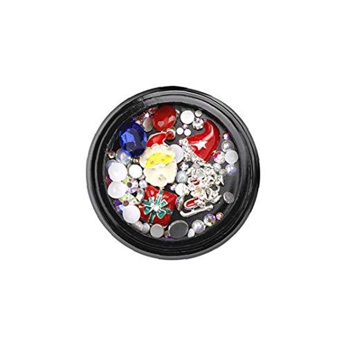 n Theme Nail Art Strass 3D Schmuck Diamant-Zubehör Nagel Maniküre Zubehör DIY Dekoration-Werkzeuge G314 ()