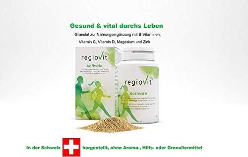 REGIOVIT® Activate Granulat I Mikronährstoffe I Vitamine, Mineralien, Spurenelemente, Ballaststoffe I 176g Dose ist ausreichend für 3 bis 6 Monate.