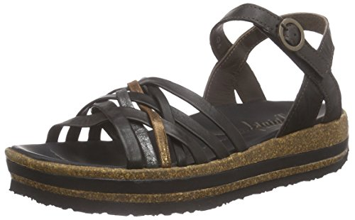 THINK! Zega Sandale, Damen Slingback Sandalen, Schwarz (SZ/KOMBI 09), 40 EU