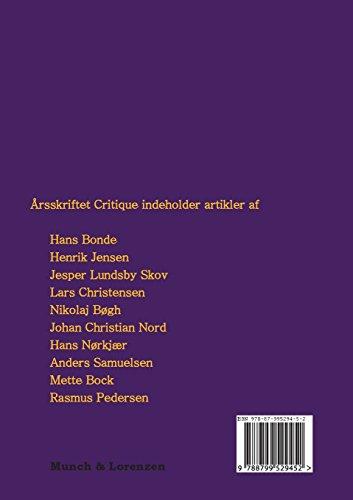 Arsskriftet Critique VII