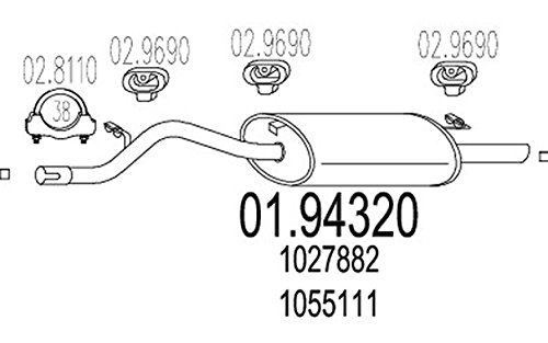 Preisvergleich Produktbild MTS Company 01.94320 Endschalldämpfer