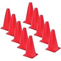 Gudhi - Cartel Plegable para Patinaje, Barricada, rampas, Carretera, Cono Marcador (Rojo)