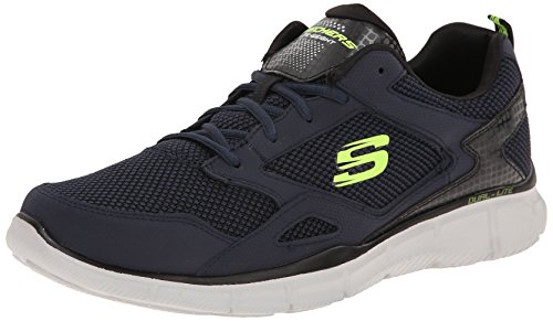 Skechers - Equalizer Game Point, Sneakers da uomo Navy/Lime