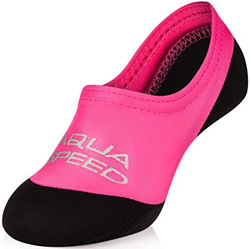 Aqua Speed® NEO Socks für Kinder | 20-29 | Neoprensocken | Kinder | rutschfeste Sohle | Elastisch | Leicht, Farbe:Pink;Größe:20/21