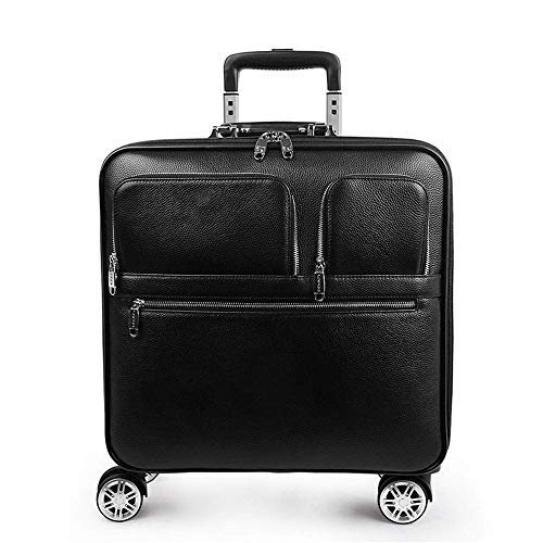 GXWLWXBB Lederrollkoffer Passwort 16 Zoll Geschäftsreisen können zum Einsteigen genutzt Werden