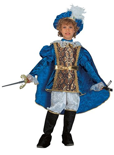 Premium Prinz-Kostüm für Jungen mit Hut, Jacke und Fliege | Hochwertiges Karnevals-Kostüm / Faschings-Kostüm / Kinderkostüm | Perfekte Prinzenverkleidung für Karneval, Fasching, Fastnacht (Größe: (Kleiner Kostüm Prinz Ideen)