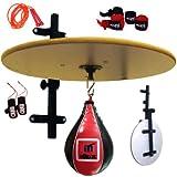 MADX - Plataforma plegable para sparring de boxeo, entrenamiento, bola color rojo, de piel, 10 piezas