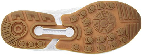 Adidas ZX Flux Scarpe da Ginnastica Basse, Unisex, Adulto Bianco (Ftwr White/Ftwr White/Gum)