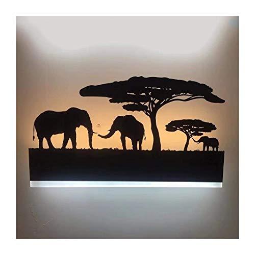 Augrous 12W LED Lámpara de Pared Hierro Elefante Cuerpo Ligero Mural Lámpara para Cuarto Sala Decoración Ligero