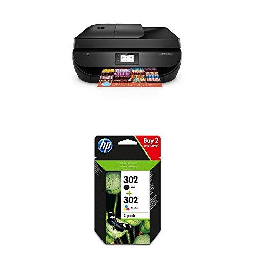 Produktbild HP OfficeJet 4655 Multifunktionsdrucker schwarz + HP 302 Multipack
