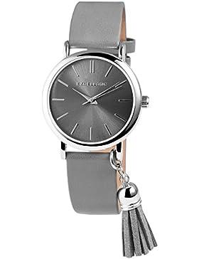 Excellanc Damenuhr mit Bommel am Gehäuse, Damen Armbanduhr mit hochwertigem Quarzwerk - 10000030018-120-027-027...