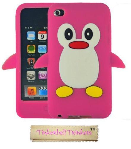 Sks distribution® rosa caldo pinguino custodia in silicone / cover / case per apple ipod touch 4