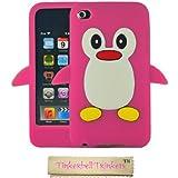 Tinkerbell Trinkets® Rose Chaud Mignon Pingouin Manchot Etui Coque Housse Pour iPod Touch 4th Gen Génération 4 4G