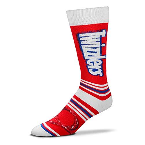 For Bare Feet Hershey's Candy Crew-Socken, gestreift, Einheitsgröße, Unisex-Erwachsene, Fbf Originals Twizzlers Socks, Twizzlers - Stripealicious, One Size