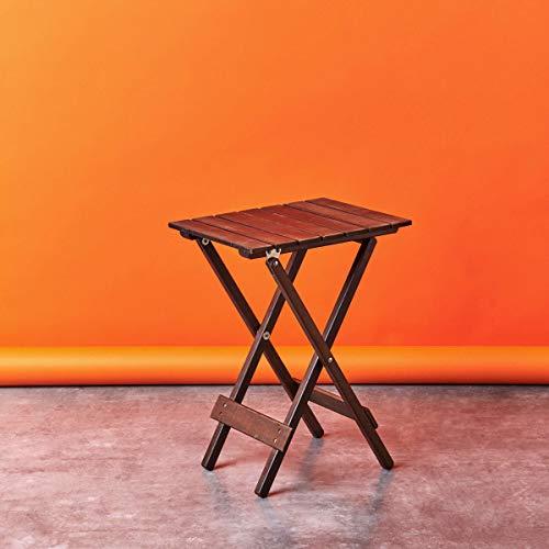 BUTLERS Lodge Klapptisch aus Holz 38x30x51 cm- Beistelltisch aus FSC-Holz – Balkontisch, Gartentisch, Holztisch in zwei Farben