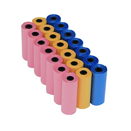 comprare on line Yommy® Sacchetti per bisogni dei cani 24/48/72 rotoli rolls, confezione da 360/720/1080 YM-0281 (24 Roll / 360 unità ) prezzo