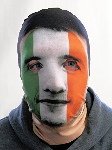 GNS SIX Nations Bedruckt Design Irische Flagge Irland 3D Effekt Gesicht Haut Sensenmann hergestellt in Yorkshire lsprints ()