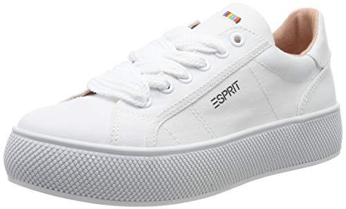 ESPRIT Damen LU Sneaker, Weiß (White 100), 37 EU