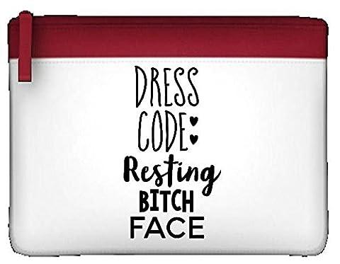 Robe CODE se reposer Bitch Face Déclaration Trousse plate taille unique rouge