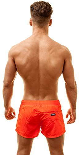 Diesel Short de Bain, Slim Fit Orange