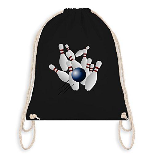 Bowling & Kegeln - Bowling Strike Pins Ball - Unisize - Schwarz - WM110 - Turnbeutel I Gym Bag