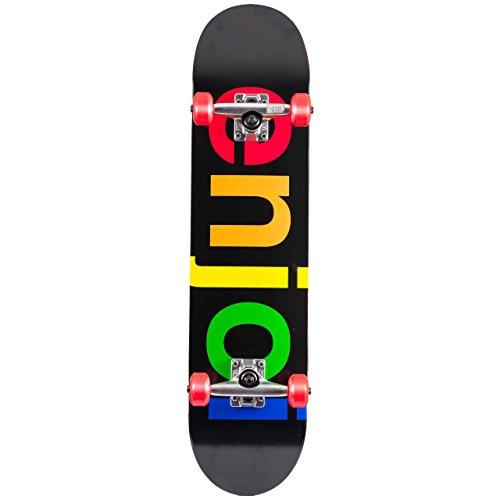 Enjoi Skateboard Komplett Spectrum Soft Wheel - 7.62 Inch Schwarz (One Size , Schwarz)
