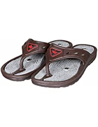 Unistar Acupressure Slippers; GH-01-Brn for Pain Relief
