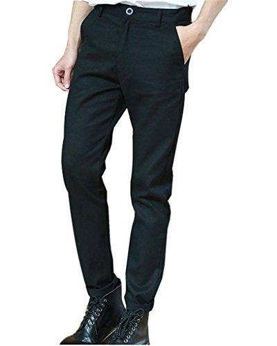 Minetom Pantalon Cargo Slim Casual - Homme,Automne et en Hiver Pantalons Noir