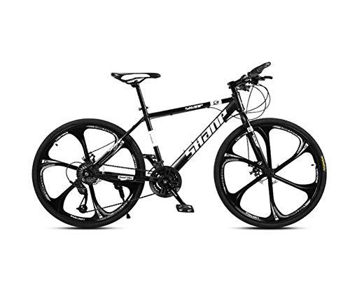 QWE Bicicleta montaña Adultos 26 Pulgadas 27 velocidades