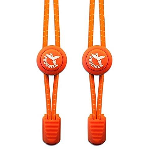 Elastische Schnürsenkel - Perfekt für Sportschnürsenkel. Einfaches Anbringen . Ebenso prima für Kinder oder Senioren - 1 Paar