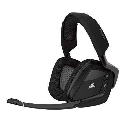 Corsair VOID PRO RGB Wireless Cuffie da Gioco per PC, senza Fili, Dolby 7.1, Carbonio