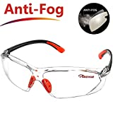 SAFEYEAR Softair Schutzbrille Baustelle Arbeitsbrille – SG003 (2018 Modisch) Perfekter Tragekomfort Orange Brille