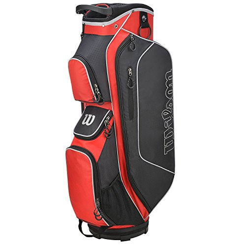 Wilson Golf WGB5306RD Sac Chariot Homme, Rouge/Noir, Taille Unique