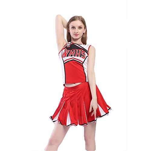 ZQ Mädchen Cheerleading Kleid Cheerleading Fußball Baby Aerobic Kostüm Frauen Schuluniformen Erwachsene Cheerleader Tanz - Für Erwachsene Glee Cheerleader Kostüm