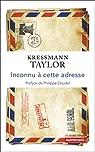 Inconnu à cette adresse par Kressman Taylor