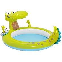 Turtle Spray Pool 215x189 cm Kinderpool Planschbecken Schwimmbecken mit Sprüher