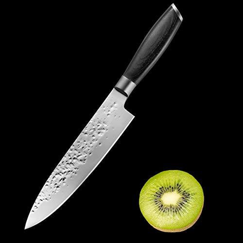 MeeQee Coltello da Verdura Coltello da Cucina Coltello 19cm Frutta Coltello Forgiato Molto affilato Impugnatura Ergonomica