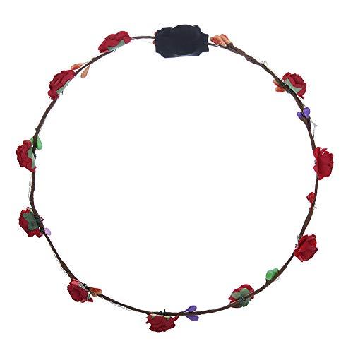 VRTUR LED-Stirnband, Blumenkranz, Blumenkranz, für Festivals, Hochzeit, Party, 5 Stück Farbe,Karneval Geschenk