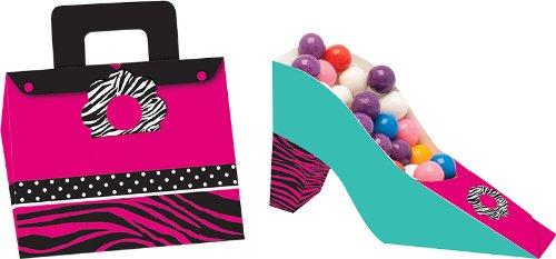 Unbekannt Creative Converting Pink Zebra Boutique Geldbörse Schuh und in Treat Boxen, 4Zählen