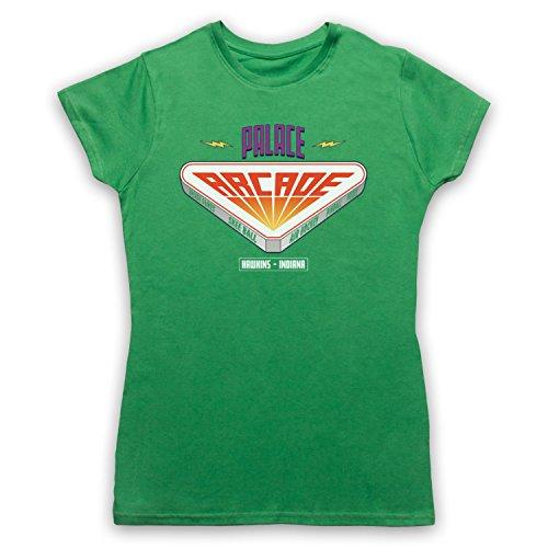 Stranger Things Palace Arcade Damen T-Shirt Grun