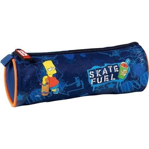 Bart simpsons-astuccio rotondo, 22 x 8 cm, modello skate fuel