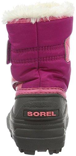 Sorel Snow Commander, Bottes de Neige Mixte Enfant Rose (Tropic Pink/Deep Blush 652)