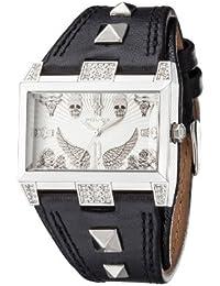 Police P13662JS-04B - Reloj analógico de cuarzo para mujer con correa de piel, color negro