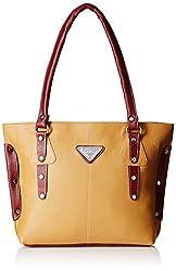 Fantosy Women's Handbag (Beige And Maroon,Fnb-234)