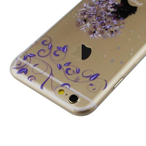 iPhone SE Hülle, iPhone 5S Hülle, iPhone 5S Case,EMAXELERS iPhone SE 5 5S Hülle Soft Slim TPU Bumper Case Soft Silikon Gel Schutzhülle,Niedlich Blumen Fairy Mädchen Serie Transparent Silikon Crystal C Fairy Girl TPU 5