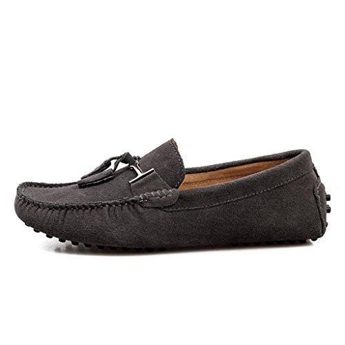 Men's Minitoo Nouvelle chass'en daim pour chaussures bateau Loafers Penny de conduite Gris - Gris