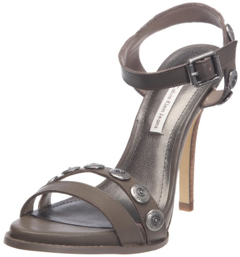 Calvin Klein Jeans Eva, Sandali donna, Taupe, 40.5 (7 UK)